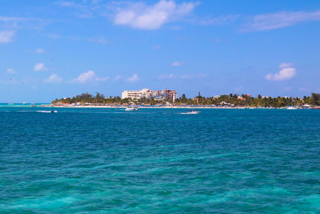 The island of Isla Mujeres, Mexico