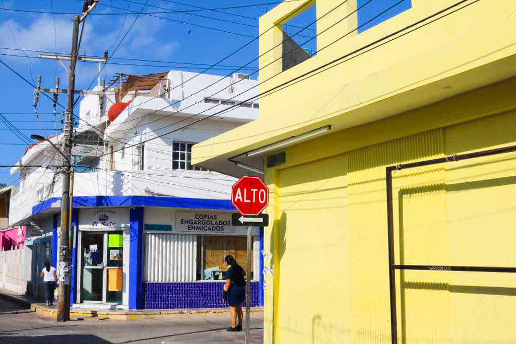 Colourful Streets in Downtown Isla Mujeres, Mexico