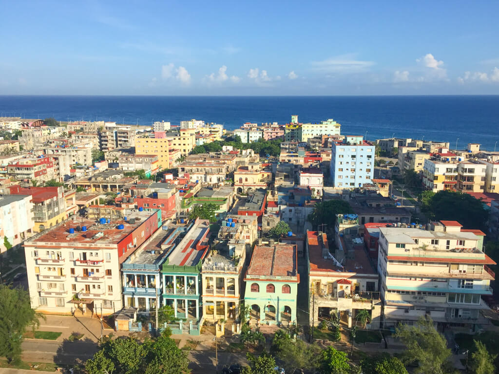 Morning view from a casa particular in Vedado district, Havana