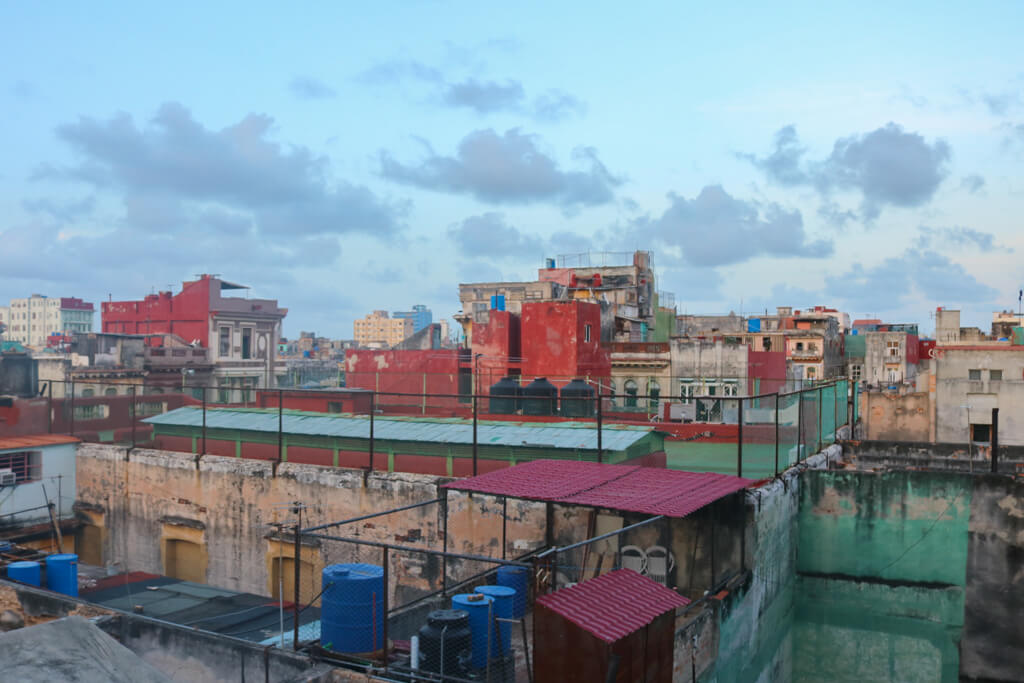 Sunset view from Paladar La Guarida in Havana