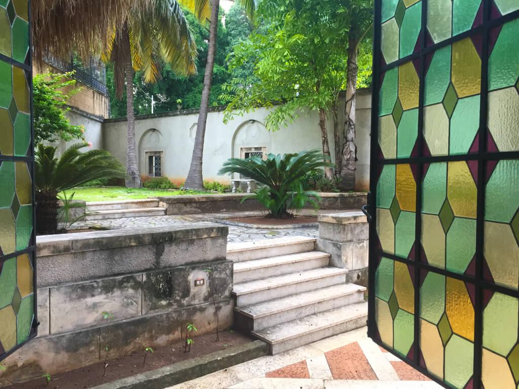 Courtyard of the Napoleon Museum in Havana, Cuba