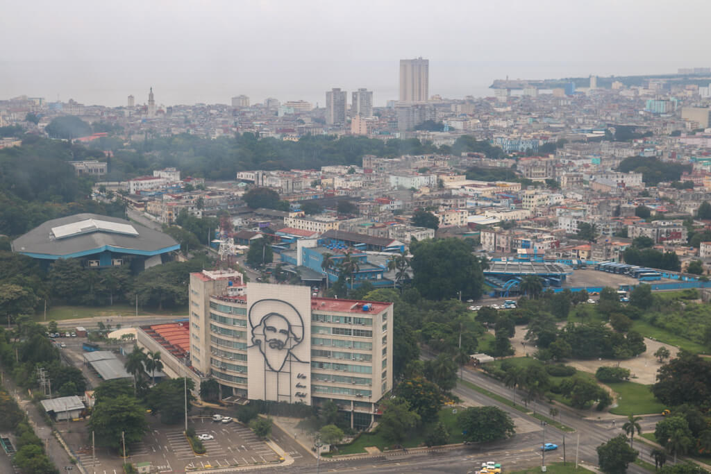 View from Jose Marti Memorial tower in Havana, Cuba