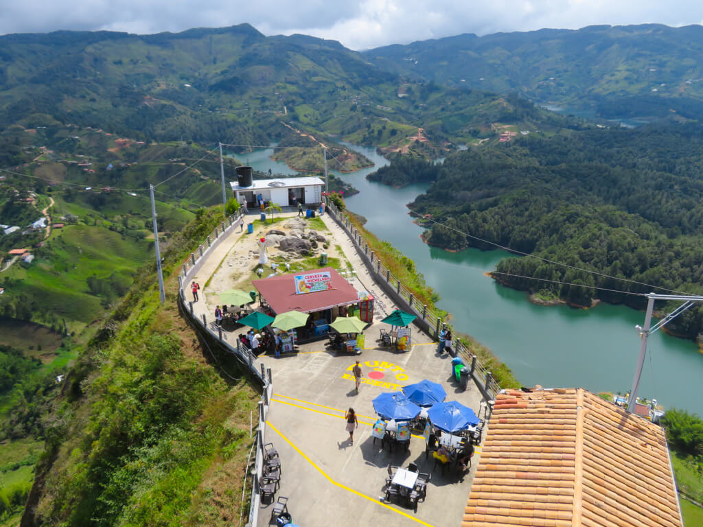 Restaurants at the top of the rock of Guatape