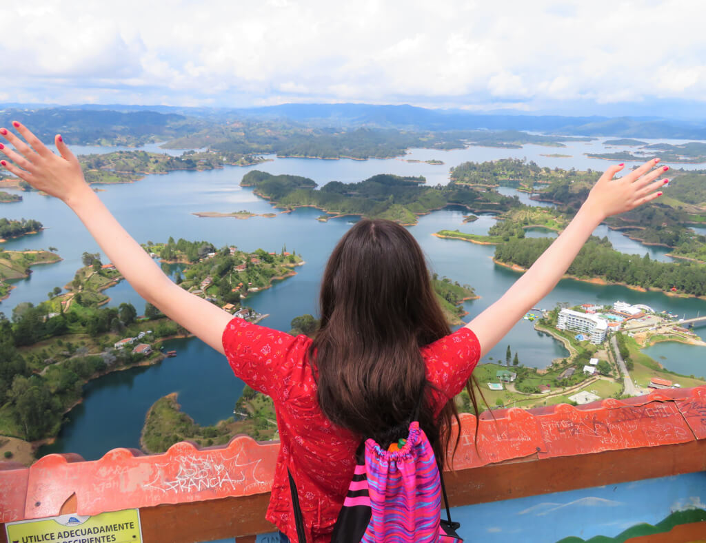Memoirs of a Globetrotter at the top of El Penon de Guatape