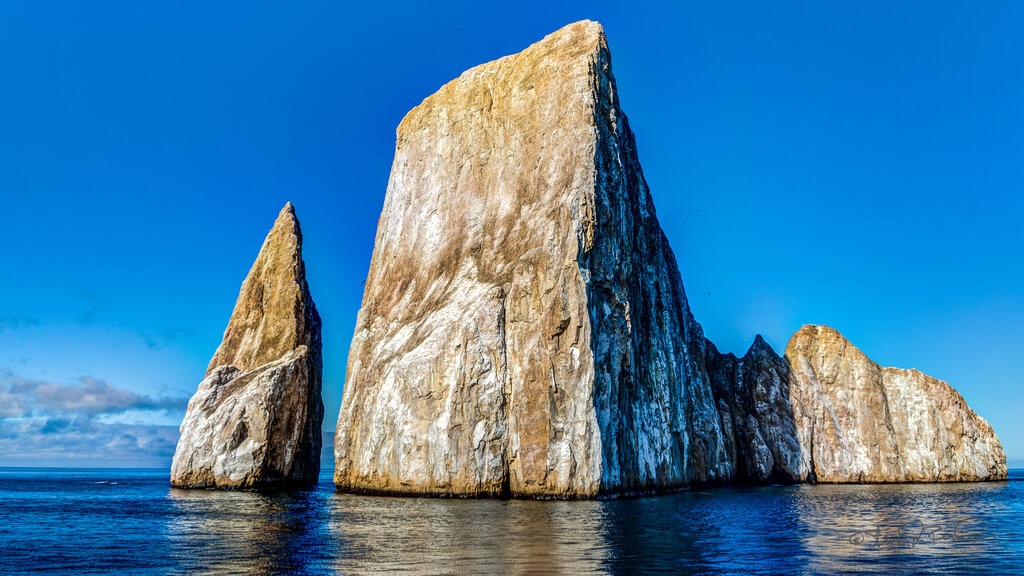 Kicker Rock, San Cristobal, is one of the most spectacular snorkeling and diving sites in the Galapagos