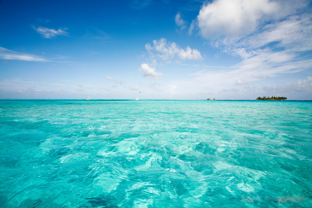 San Andres is an island in the Caribbean sea surrounded by crystal blue waters and coral reefs