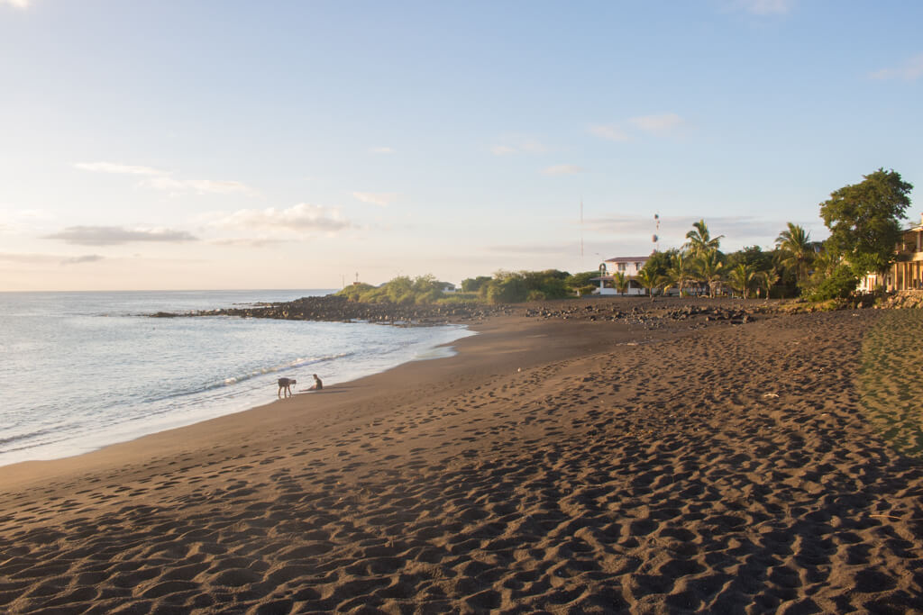 Black Beach (or Playa Negra) on Floreana Island in the Galapagos is an amazing place to watch the sunset