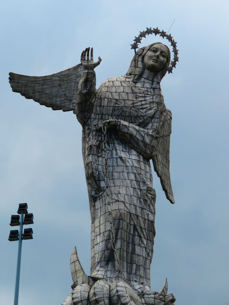 Statue of the Virgin Mary at the top of El Panecillo in Quito