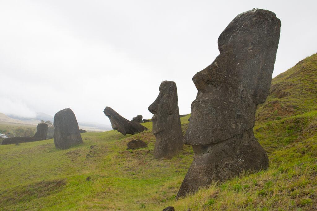 Moai statues at Rano Raraku, Easter Island