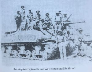 """Picture of captured tanks from """"Tbe Battle of Dograi and Batapore"""""""