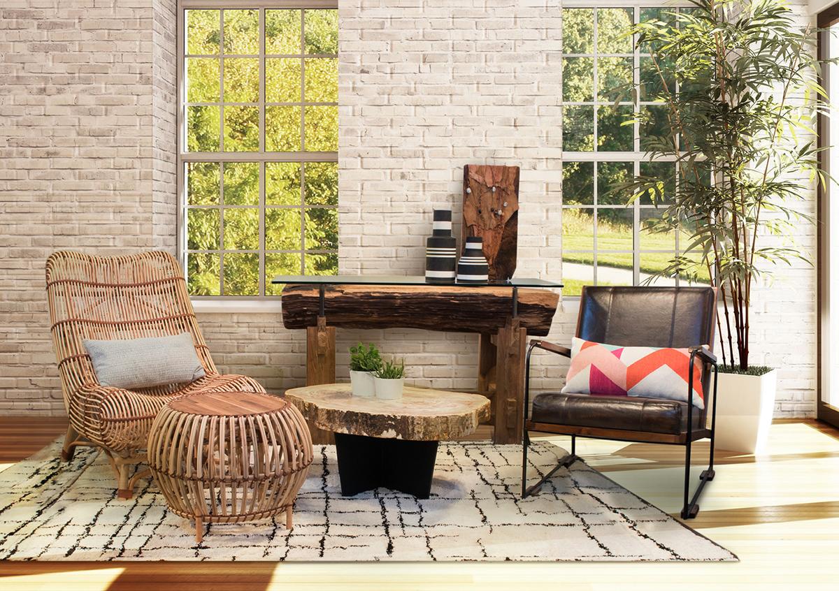 Mixing Mid Century And Bohemian Furniture Memoky Blog