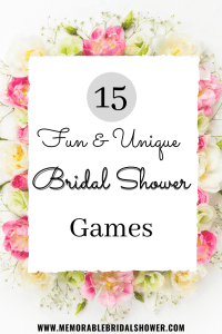 15 fun and unique bridal shower games