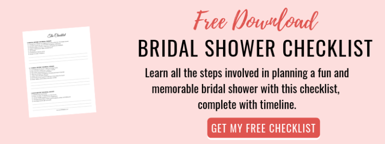 Free bridal shower checklist