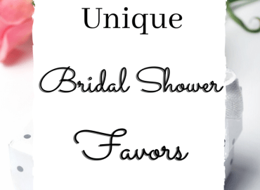 Bridal shower favors that are cheap and unique
