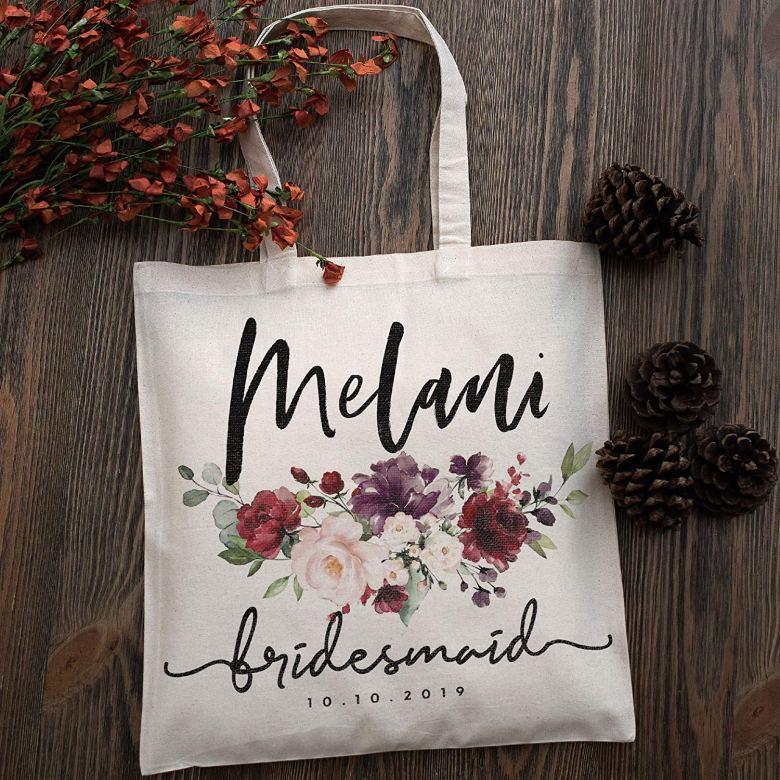 Personalized bachelorette tote bags