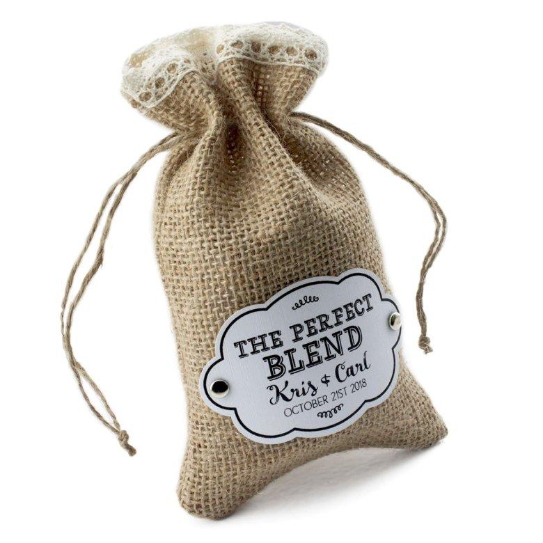 The perfect blend burlap bag