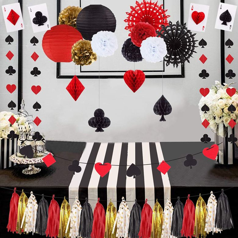 Las Vegas themed bachelorette party decorations
