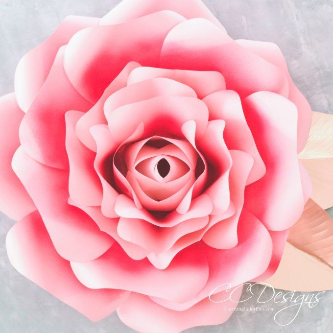 Paper garden roses