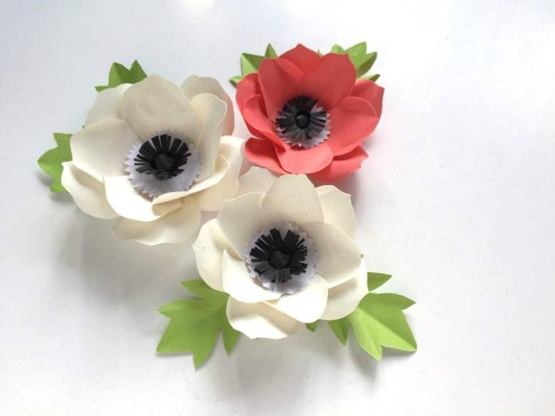 DIY paper flowers anemone