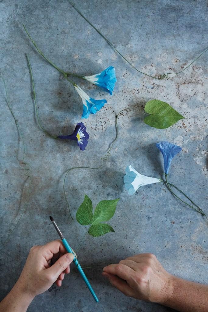 DIY paper flower morning glories