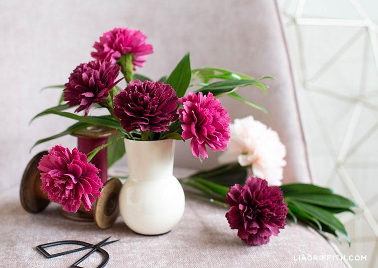 Crepe paper carnations