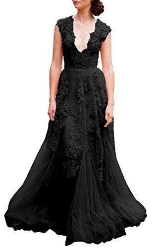 V neckline lace and tulle boho wedding dresses