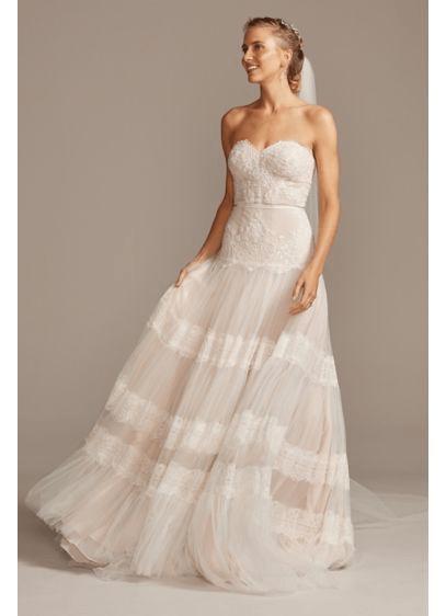 Lace bohemian wedding gown