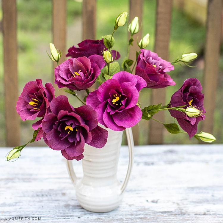 DIY lisianthus blooms