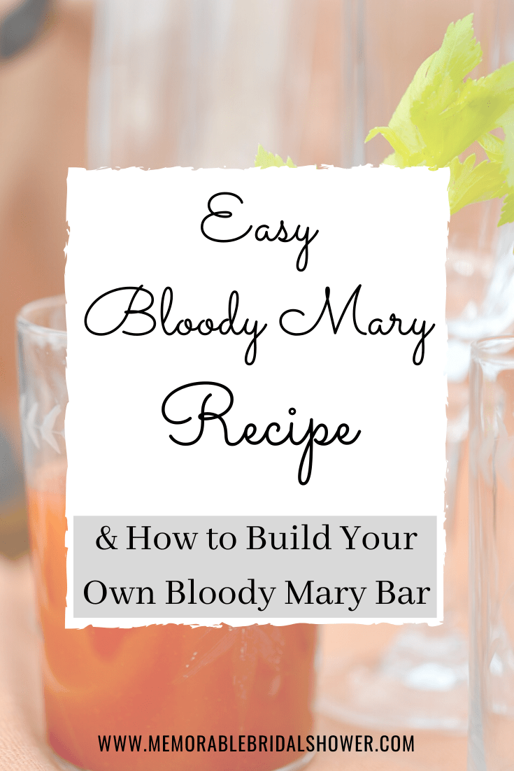 Bloody Mary recipe and bar