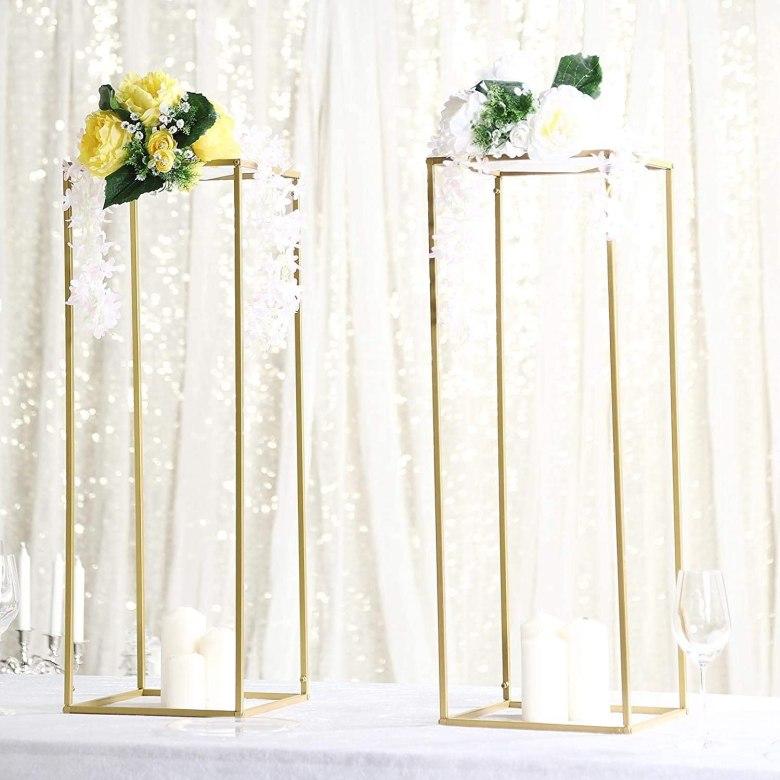 Gold Wedding Geometric Centerpiece Vase