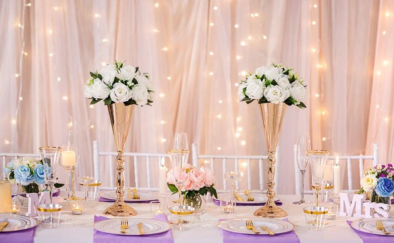 Tabletop Metal Wedding Flower Trumpet Vase