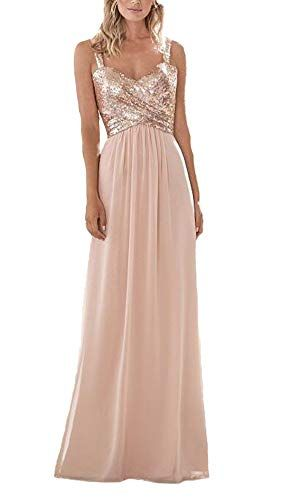 Sequin and chiffon bridesmaid dresses