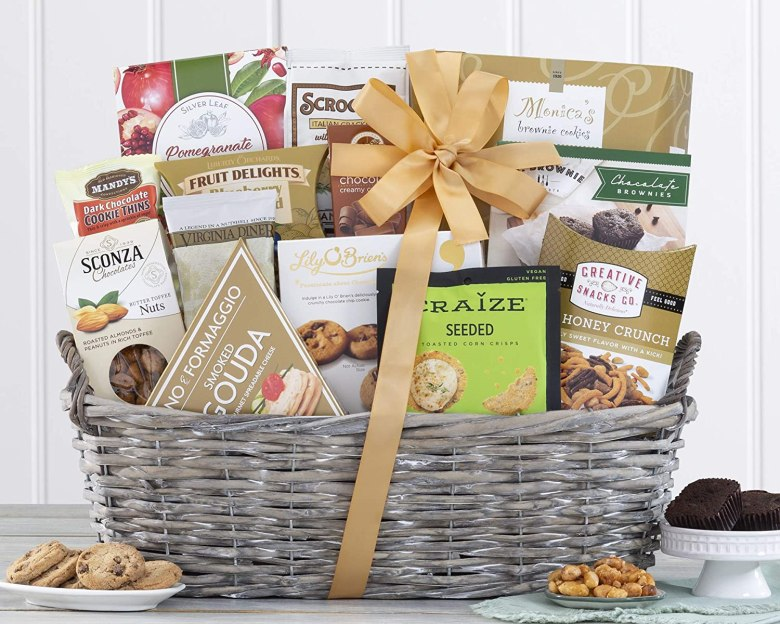 Gourmet food basket is a great gift for couples who postponed or canceled their weddings