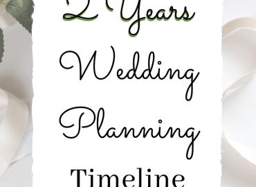 2 Years Wedding Planning Timeline