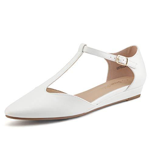 Dream Pairs Estella Low Wedge Ballet Flats