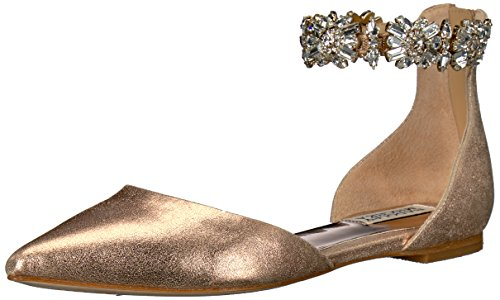 Badgley Mischka Women's Morgen II Mary Jane Flat Wedding Shoes for Bride