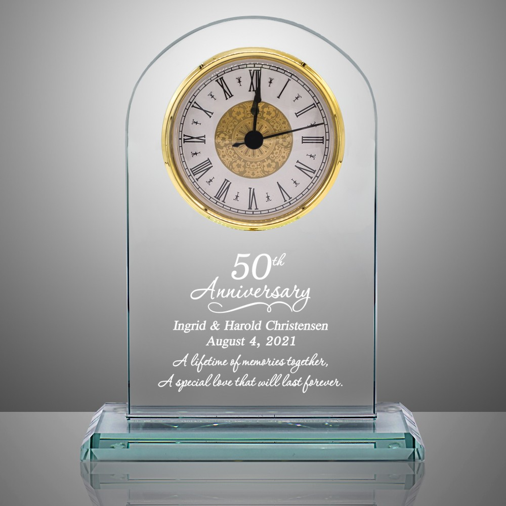 50th anniversary personalized glass