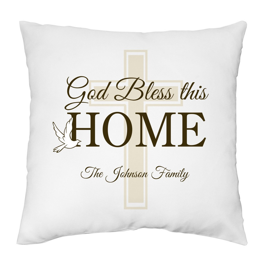 bless this home personalized family pillow case