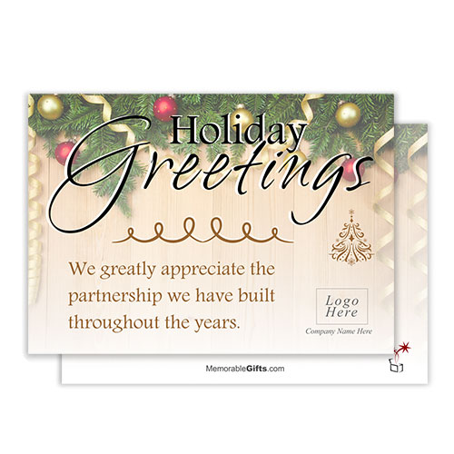 Holiday Greetings Corporate Holiday Card
