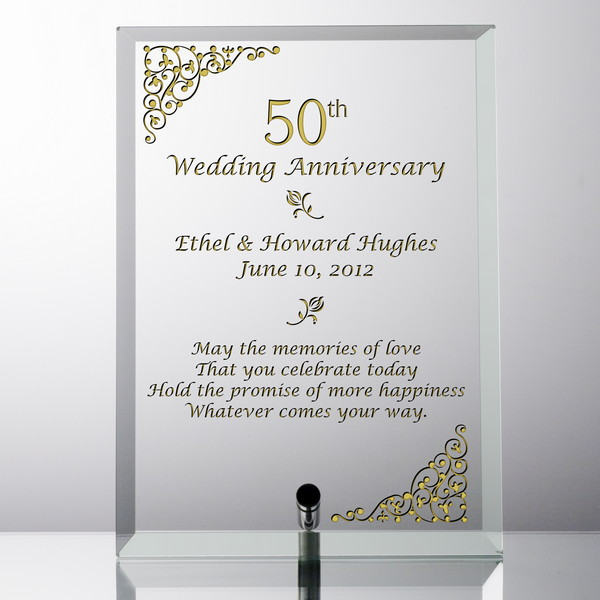 elegant personalized 50th wedding