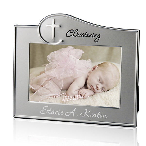 personalized christening 4x6 picture