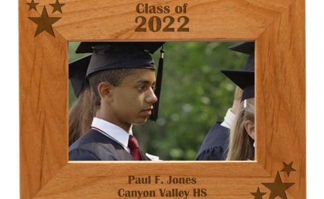 Personalized Graduation 4 X 6 Wood Photo Frame Engraved