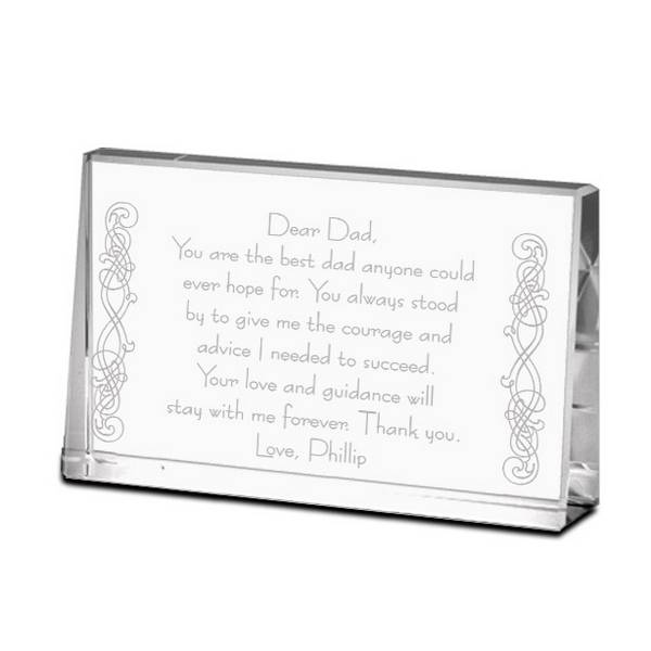 thank you dad personalized