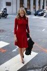 Red Turtleneck Dress Memorandum Nyc Fashion