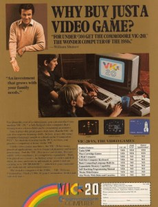 Anúncio do Commodore Vic-20