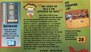 Editorial da revista Supergame 4