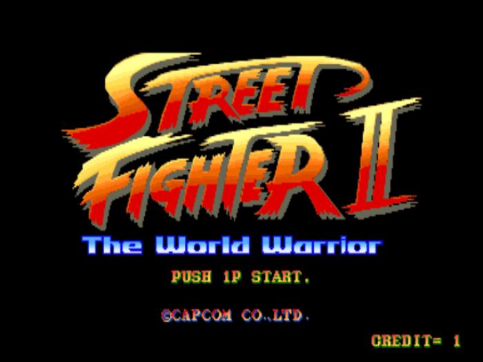 Tela título de Street Fighter II