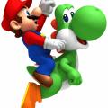 Yoshi carregando Mario