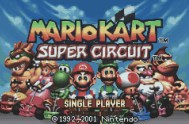 Mario Kart Super Circuit, Game Boy Advance