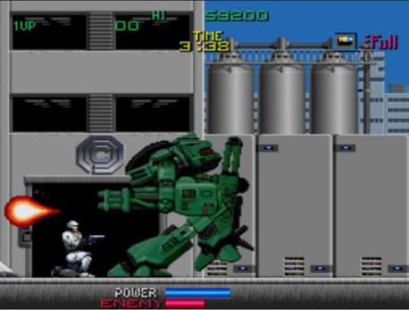 ED-209 aparece mais de uma vez no caminho de Robocop